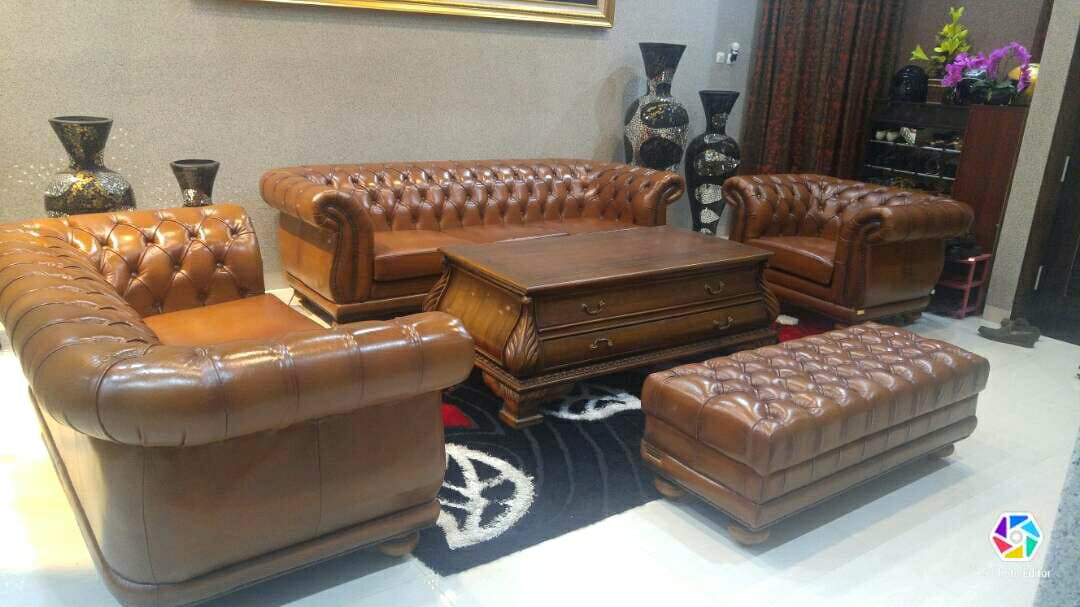 Sofa Chesterfield Italy Genuine Leather