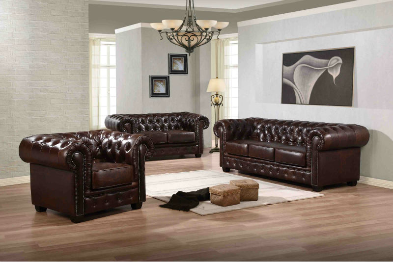 sofa kulit chesterfield